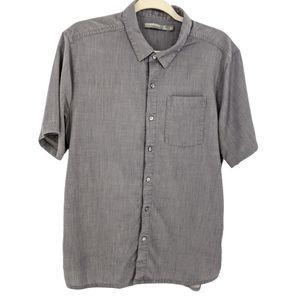 Icebreaker Merino Wool Blend Button Up Shirt L